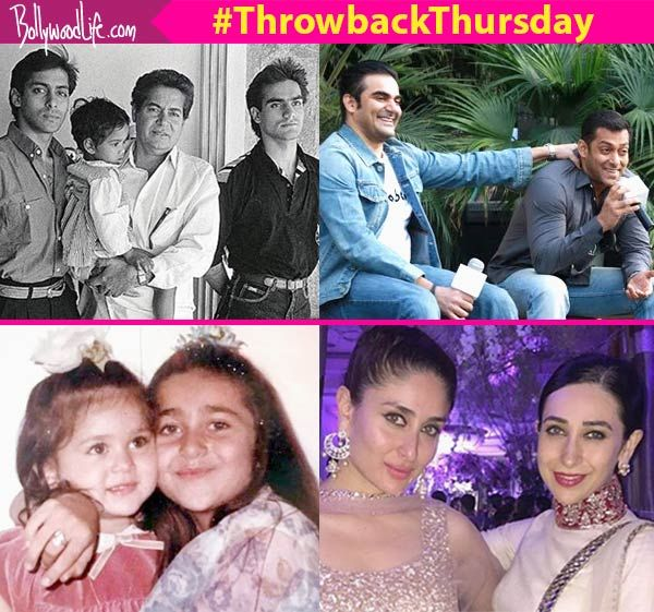 These throwback pictures of Salman Khan-Arbaaz Khan, Kareena Kapoor-Karisma Kapoor are absolutely precious! #FansnStars