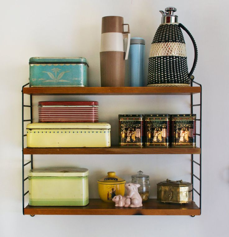 Mid century decor, Tomado string shelves