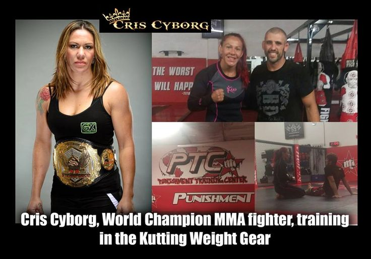 World champion works out with KuttingWeight Sauna Suit. Chris Cyborg stays fit with our sauna suit.