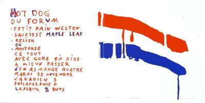 Serge Lemoyne - Hot dog du forum, 1978