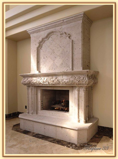 cantera stone mantel - Google Search | Fireplace ...