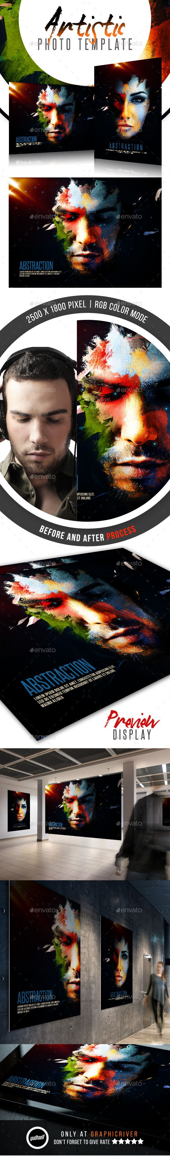 Abstraction - Artistic Photo Template PSD #design Download: http://graphicriver.net/item/abstraction-artistic-photo-template/11788929?ref=ksioks