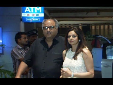 Sridevi with Boney Kapoor at Amar Singh's bash.