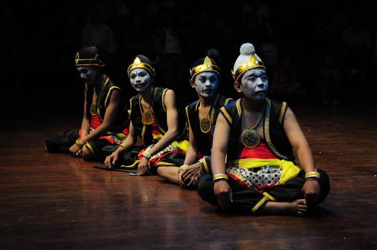 Semar, Gareng, Petruk, and Bagong are called Punokawan in Javanese wayang or puppet. They are clown face servants of the hero characters.