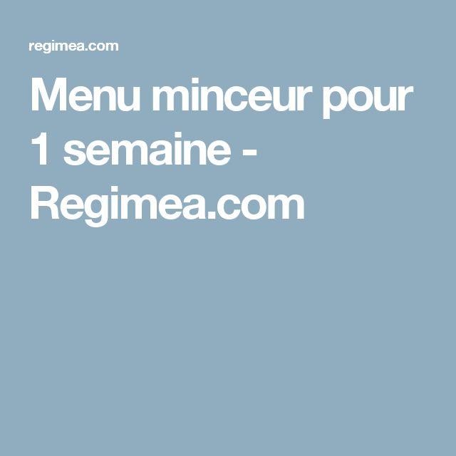 Menu minceur pour 1 semaine - Regimea.com