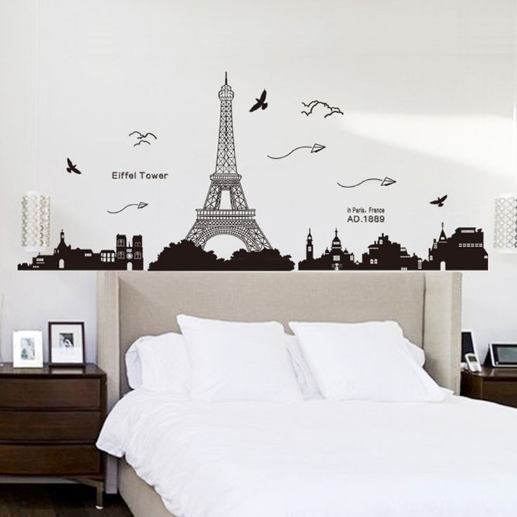 Whether or not do you think it is monotonous that the wall in badroom or home only is a kind of color? Would you like to decorate the wall more romantic? You should chose a Paris Eiffel Tower #DIYWallStickers. Give you a romantic atmosphere to your bedroom.