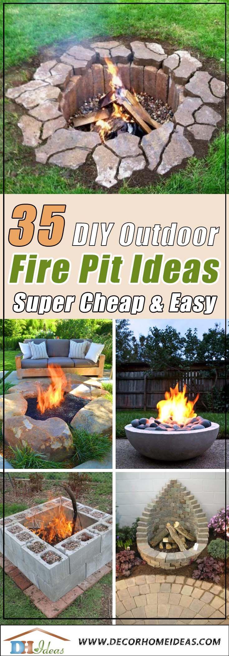 35 Best DIY Outdoor Fire Pit Ideas [ Super Cheap & Easy
