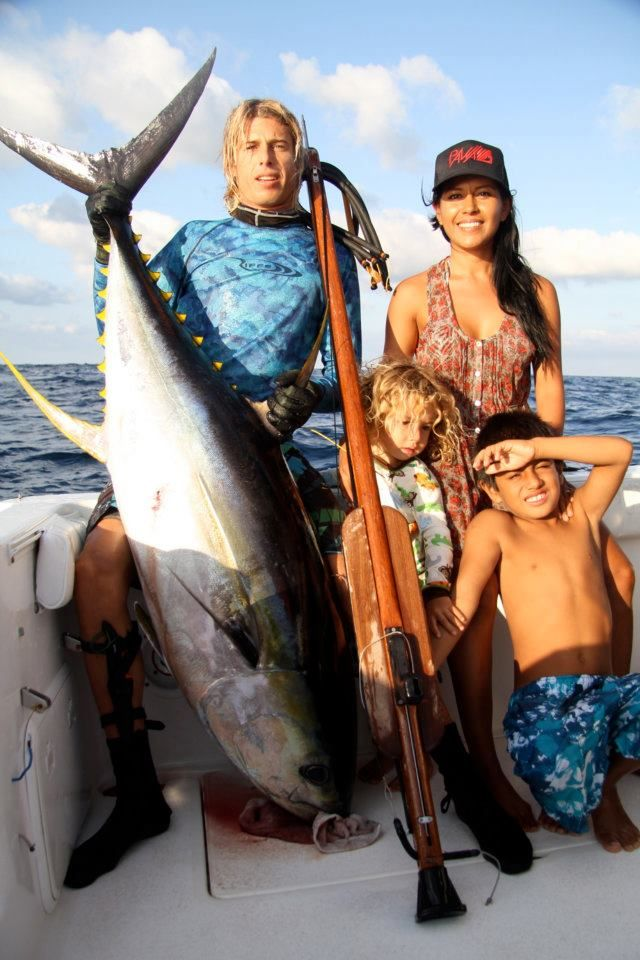brian conley surf | Pro Surfer Brian Conley and his 150lb Yellowfin Tuna Spearfishing ...