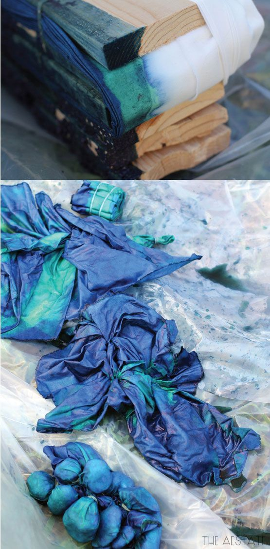 A great DIY Shibori with Indigo Dye Tutorial. How to do the different patterns