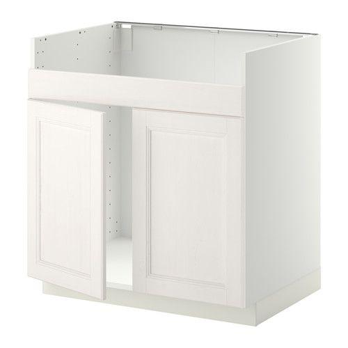 METOD Unterschrank f DOMSJÖ Spüle 2 - Laxarby weiß, weiß, - - IKEA