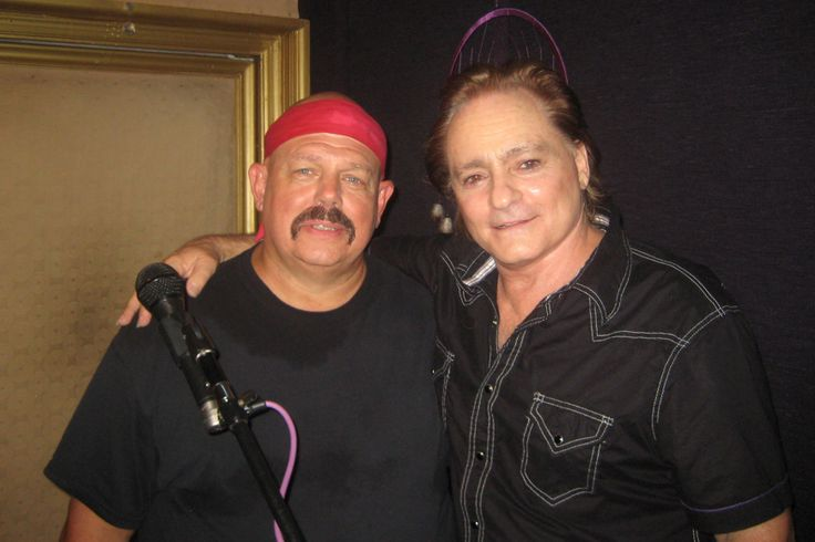 Donny Vosburgh, left, with Jefferson Airplane founder Marty Balin