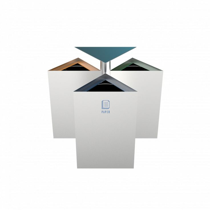 ZUPO SST - Modern stainless steel recycling bins for outdoor