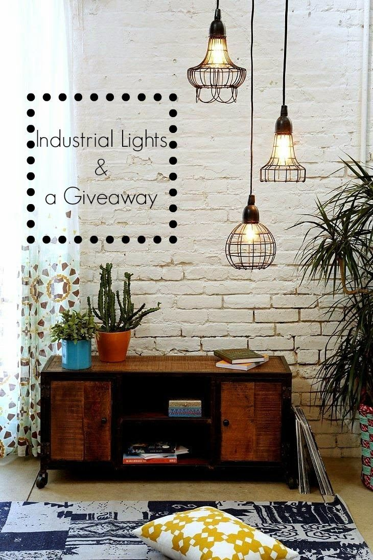 Industrial lights and a giveaway