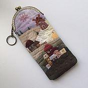 """Handtassen en accessoires.  Fair of Masters - handwerk Geval voor glazen """"Mood"""" Japans patchwork.  Met de hand gemaakt."""