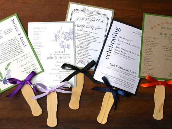 Programme de cérémonie de mariage mariage Fans par BeaconLane