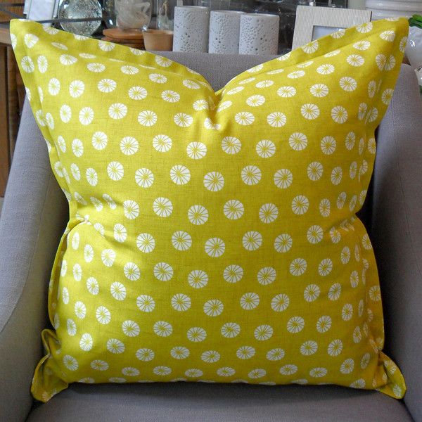 Chartreuse Pinwheel - 60cm x 60cm - Inside Out Home Boutique - Available for order online at www.insideouthb.co.za