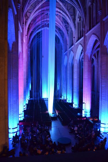 Seeing the voice, 2013, Grace Cathedral, San Francisco.