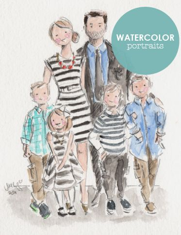 CUSTOM WATERCOLOR PORTRAITS - 2017 DELIVERY / Sophie & Lili