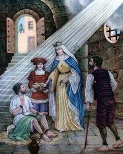 St. Hedwig (Santa Eduviges) Chromolith