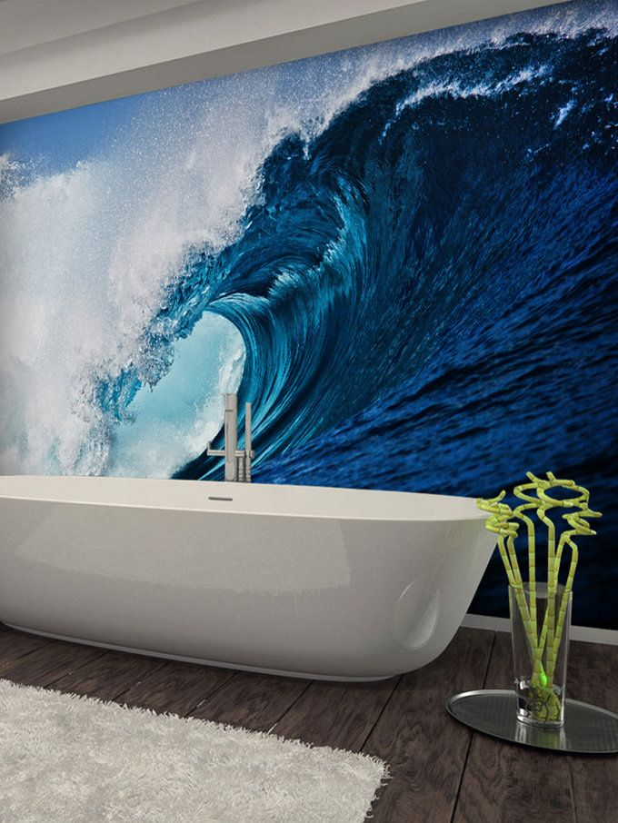Surf Wave Wallpaper Mural from Wallpaper & Decals on Gilt