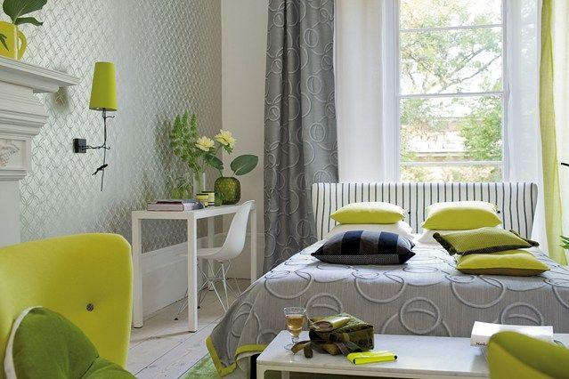 Bedroom Green and Grey - Bedroom Ideas, Furniture & Designs (houseandgarden.co.uk)
