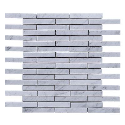 bianco carrara marble modern strip mosaic tile