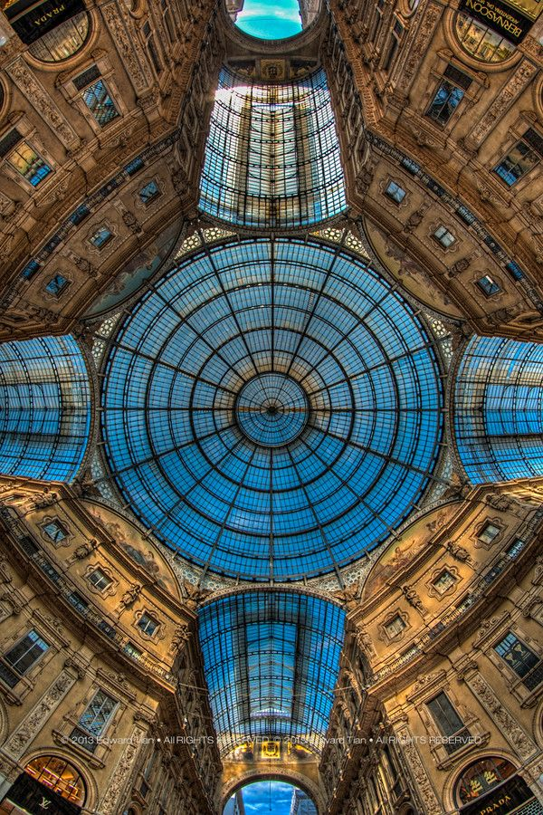 Galleria Vittorio Emanuele II, Milan Italy Fiber artist L. Blair Addessi re-created this for the Stonewall Art Gallery - fabulous!
