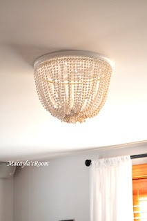 DIY Chandelier from my super creative cousin's blog, Macayla's Room    @Sarah Miller, can I put this over a ceiling light fixture, or would that ruin it?