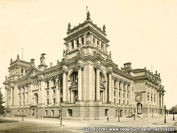 Reichstagsgebäude, Friedrich-Ebert-Platz, 10117 Berlin - Mitte (1910)