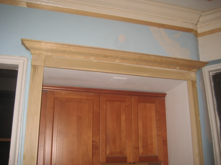 Crown Molding Above Door Kitchen Pinterest Crown