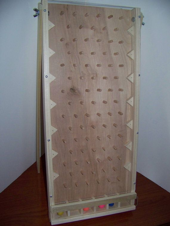 Solid hardwood tabletop plinko game board New Style hours of fun for parties benefits tradeshow home