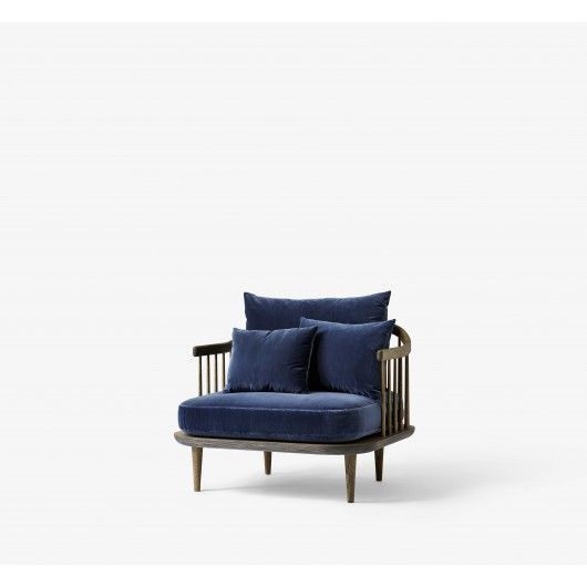 Fauteuil FLY chêne Bleu - And Tradition