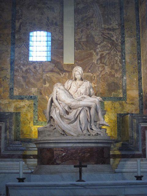 La Pietà de Michelangelo, Basílica de São Pedro - Vaticano - Itália