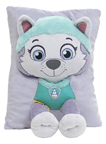 #wow Your favorite Paw #Patrol Character, #Everest is features on the 3 D Decorative Pillow. Cuddle Up when watching your favorite Paw patrol episode, or complete...
