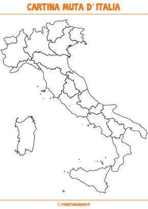Cartina Muta Dell Italia Politica.Cartina Muta Fisica E Politica Dell Italia Da Stampare