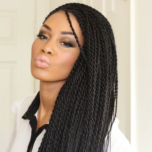35 Best Black Braided Hairstyles For 2020 Senegalese Twist Hairstyles Rope Twist Braids Twist Hairstyles