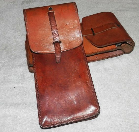 BIG Leather Magazine Pouch Military Surplus Satchel Motorcycle Tool Bag