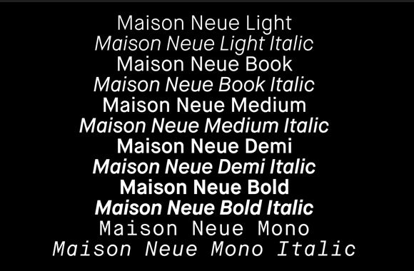Font News [New Font Release] Maison Neue and Maison Neue Mono are avaiable