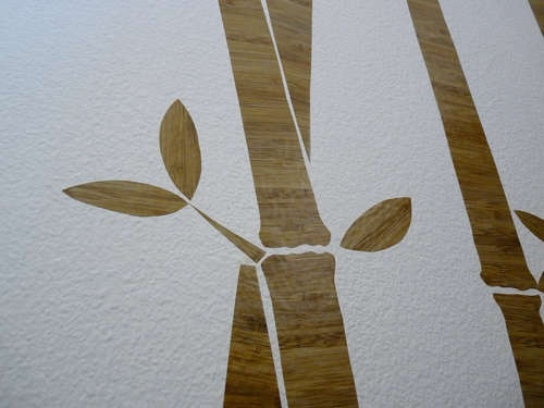 Bamboo contact paper wall art