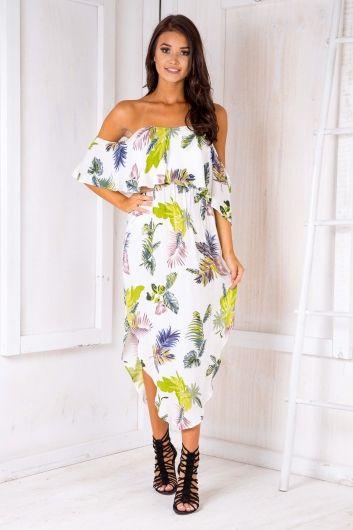 Evie maxi dress - White Palms $59.95
