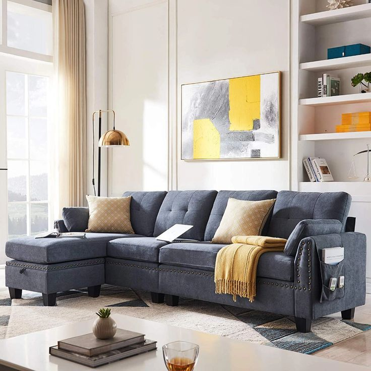 Reversible Sectional Sofa Couch For Living Room L Shape Sofa Couch