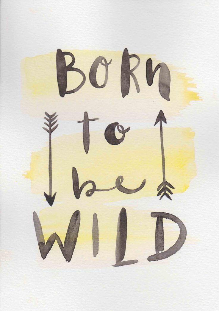 Nursery Quote Original Watercolor Painting Art Small Print A5 Watercolor Quote Print Minimalist Nursery Print Born To Be Wild Quote by FeatherAndSixpence on Etsy
