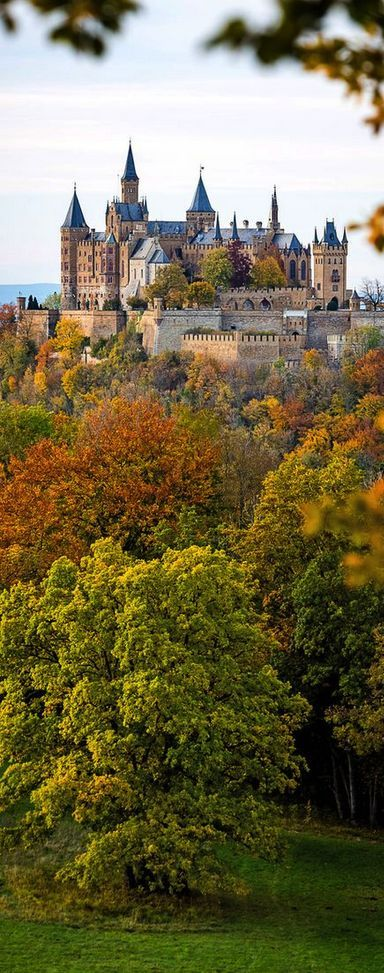 Autumn at Hohenzollern Castle, south of Stuttgart, Germany