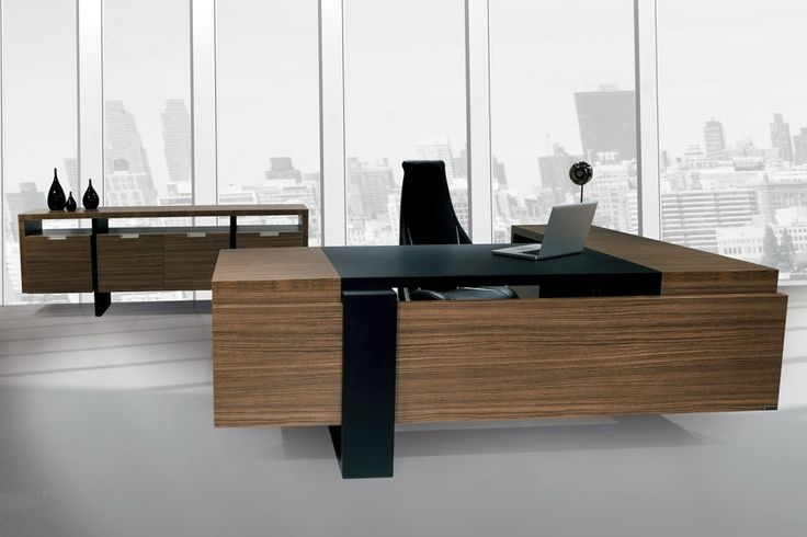 Escritorio de director / moderno / en madera - FLAT - SOLENNE OFFICE FURNITURE