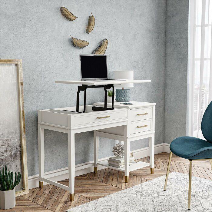 Westerleigh Height Adjustable Standing Desk In 2020 Adjustable Height Standing Desk Adjustable Standing Desk White Desks