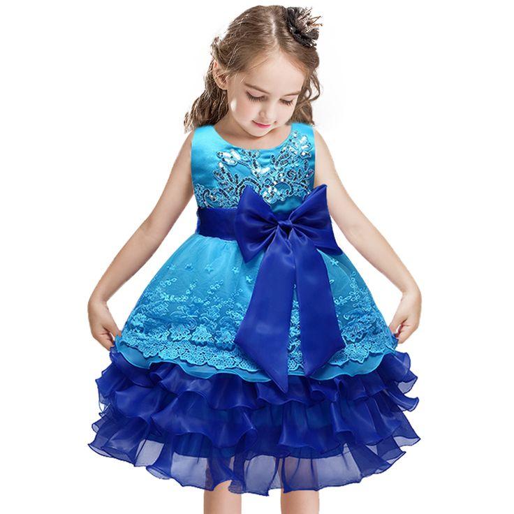 Baby Girl Princess Dress 3-8 Years Kids Sleeveless Autumn Dresses for Toddler Girl Children Sequined Fashion Dress for girls #Affiliate