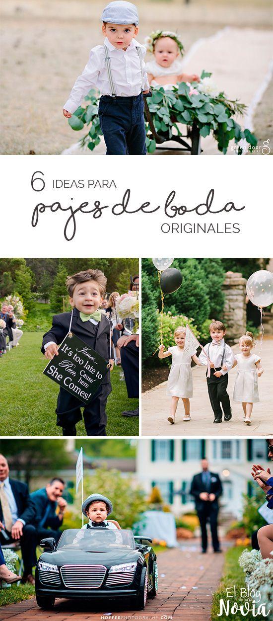 6 Ideas para que los pajes de la boda sean muy originales | El Blog de una Novia                                                                                                                                                                                 Más