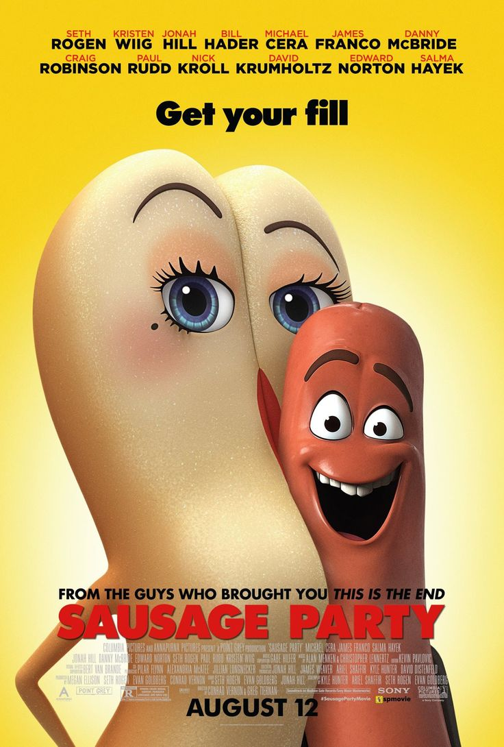 Sausage Party [] [] [] [2016] [] http://www.imdb.com/title/tt1700841/ [] [] [] official redband trailer [155s] https://www.youtube.com/watch?v=VPONNiURlxY [] [] [] boxoffice take http://www.boxofficemojo.com/movies/?id=sausageparty.htm [] [] []