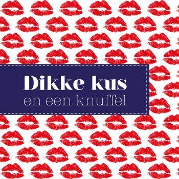 dikke kus en een knuffel