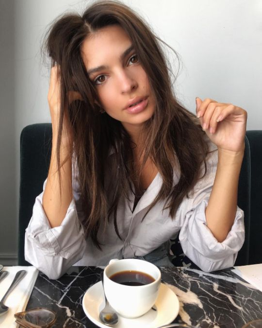 morning cup of Joe! #Emily Ratajkowski